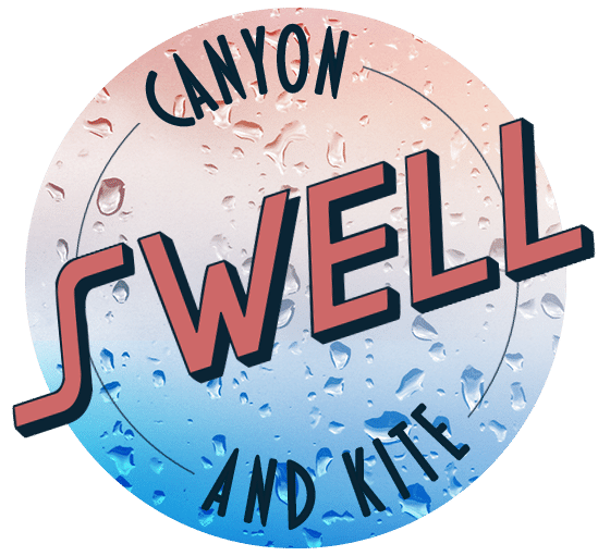 logo swell canyoning and kite canyoning herault languedoc rousssillon