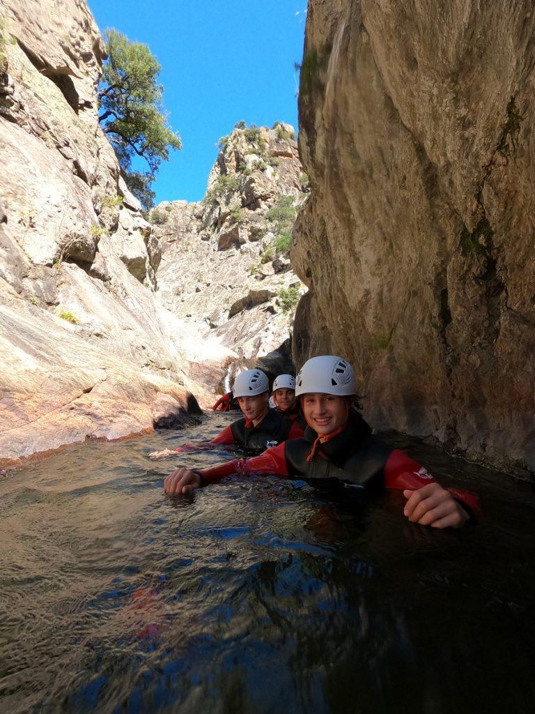 Canyoning Mons la trivalle Canyon du Rec Grand canyoning rec grand massif caroux