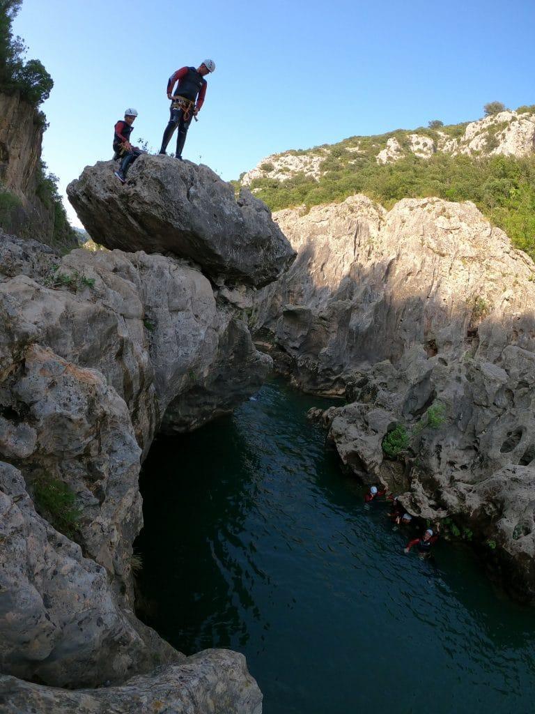 canyon du diable prés de montpellier beziers herault 34 region occitanie mediterannée