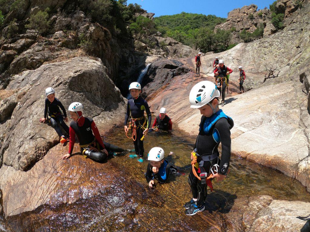 canyoning beziers Herault languedoc roussillon 34500 canyoning enfant