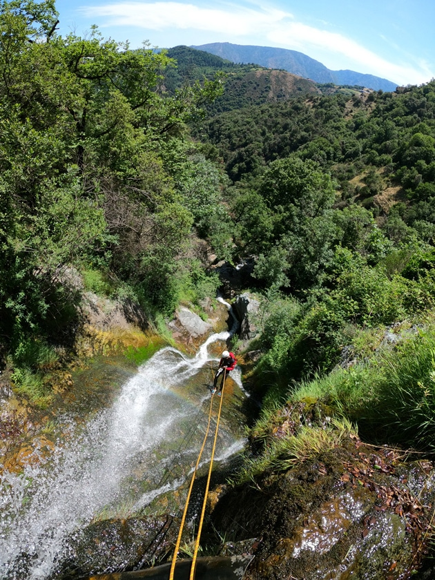 canyoning dans le caroux languedoc roussillon herault 34