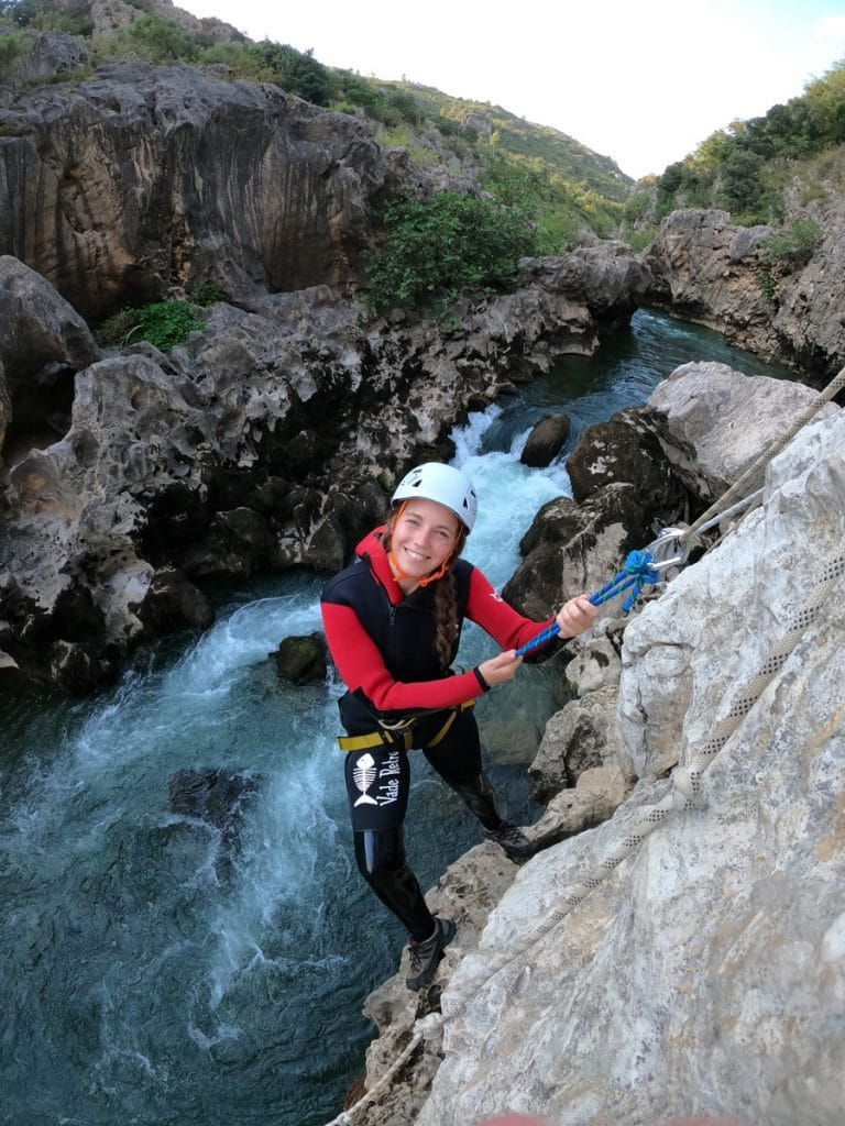 canyoning du diable herault 34 randonnée aquatique descente canyon du diable