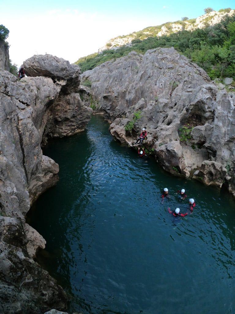 canyoning du diable herault languedoc 34 montpellier beziers agde sete randonnée aquatique