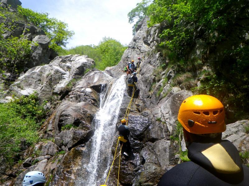 canyoning en hérault cascades d'orgon