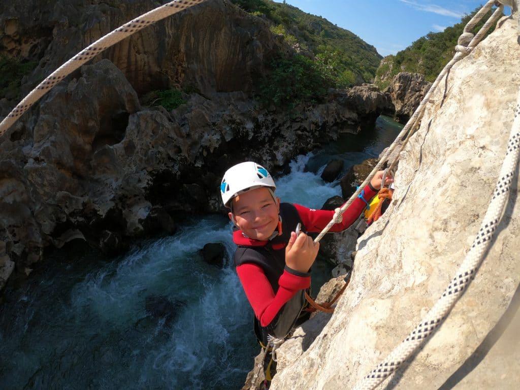 canyoning herault canyon du diable languecoc roussillon 34