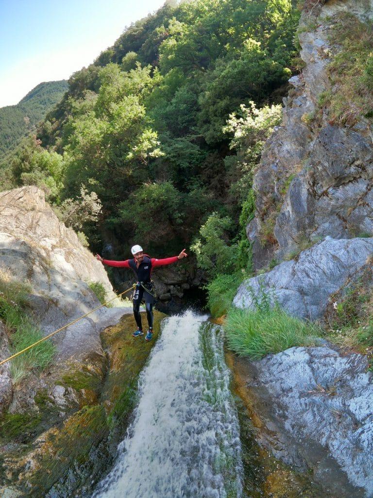 canyoning massif caroux languedoc roussillon herault 34